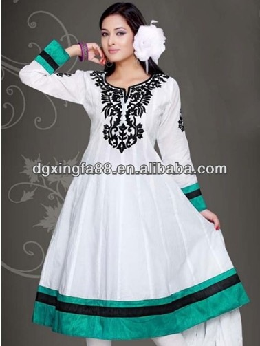 2014 Summer Latest Anarkali Frock Designs Pakistani New Style Dresses