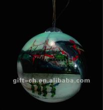 inside painted chrismas glass ball(LED lights)