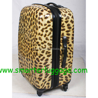 2015-2016 Hot sale printed pattern luggage bag, pc film luggage