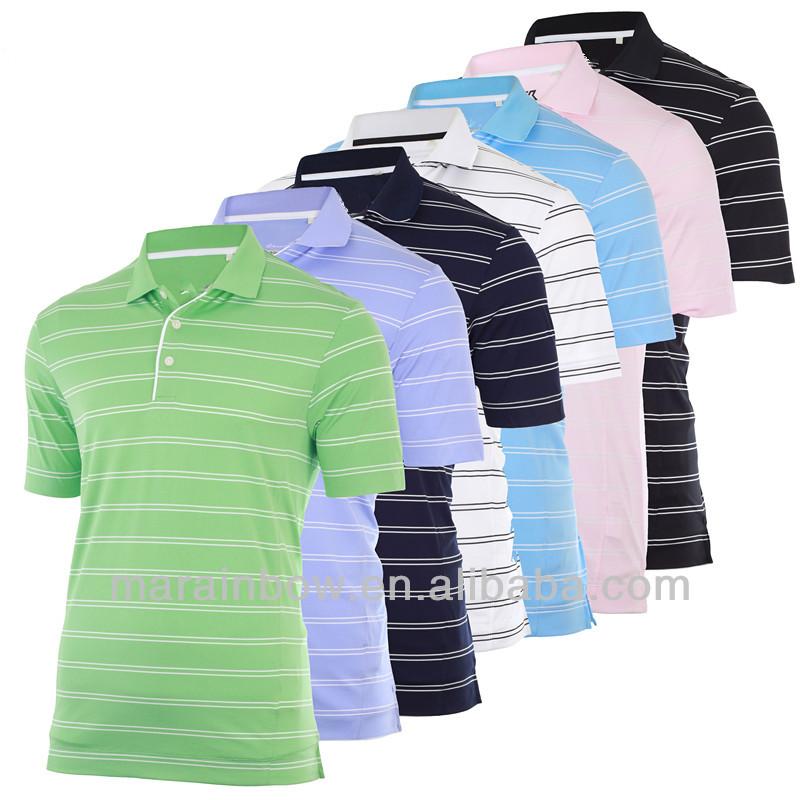 2013 brand name high quality drytec bold stripe golf polo for Name brand golf shirts