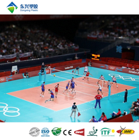 Athletic competition pvc volleyball court flooring