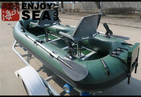 2 people inflatable fishing fold cat belly boat AF-308 with rotating seats and fishing rod for sale!!!