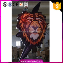 hanging decoration led lighting inflatable tiger head