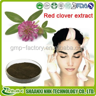 GMP Manufactor offer high purity natural red clover extract powder