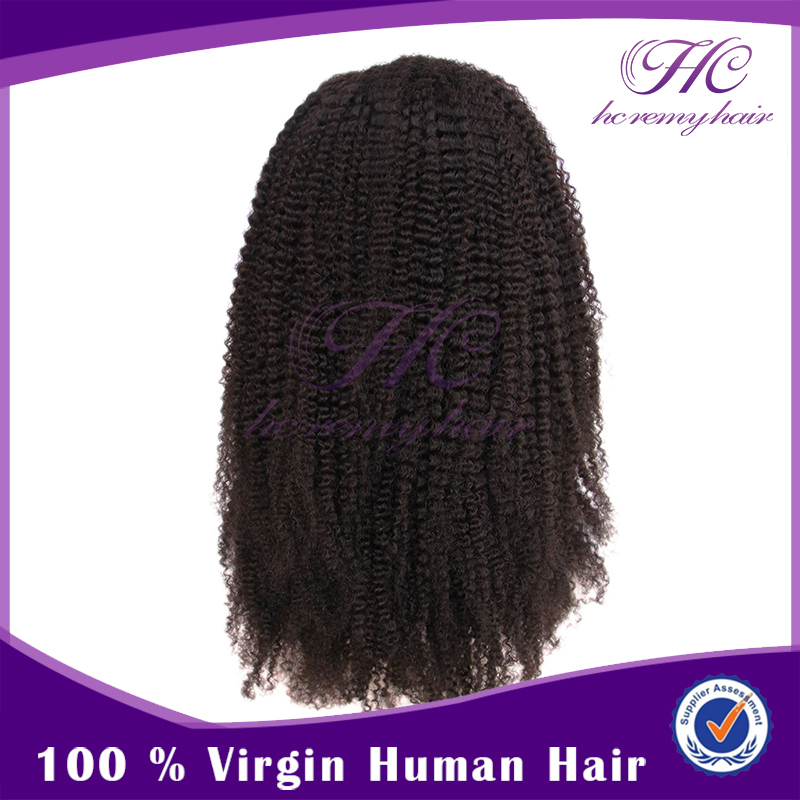 Wholesale Goods From China Afro Kinky Headband Human Hair Black People Wigs