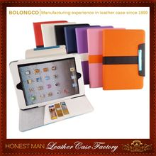 360 degree rotating High quality Stripe wallet leather case for iPad mini 4