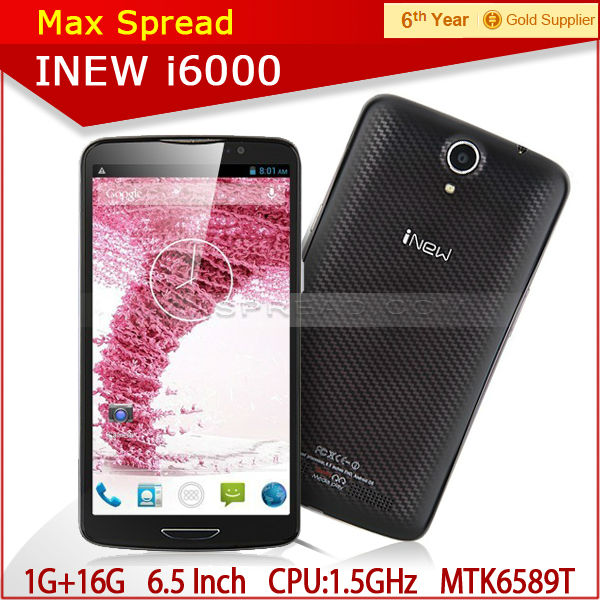 "inew i600 with 6.5""MTK6589T quad core 1920X1080p 1.5ghz android 4.2 2gb ram 32gb rom 3150mAh 13.0MP original handphone"