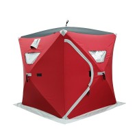V1524 Quick set up ice fishing shelter cube