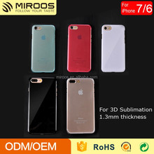 Glossy 3D Sublimation PC Case for iPhone 7 Cell Phone Cover