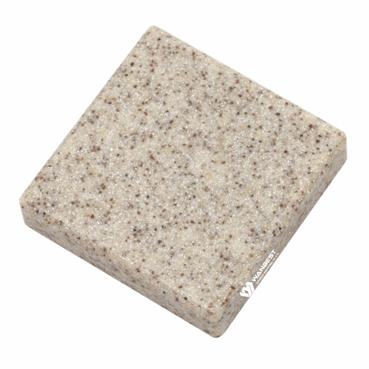 man-made light brown acrylic solid surface artificial stone sheet for sale