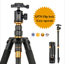 QZSZD-Q555B Professional Handheld Monopod Telescopic Digital camera tripod 350MM Folded 25MM Tube Monopod Load 12KG for DSLR 666