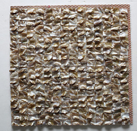 Shell mosaic, sea shell and river shell