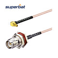 Bulkhead RP-TNC female Jack to MMCX right angle Plug Pigtail Jumper Cable RG316