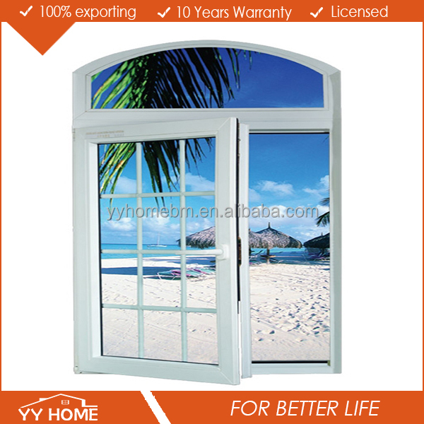 Modern new house soundproof picture window arch top window