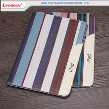 Fashion Design Colorful Strip Leather Cases For Apple iPad Air 2 Universal Flip Magnetic Stand Cases/Shell For iPad