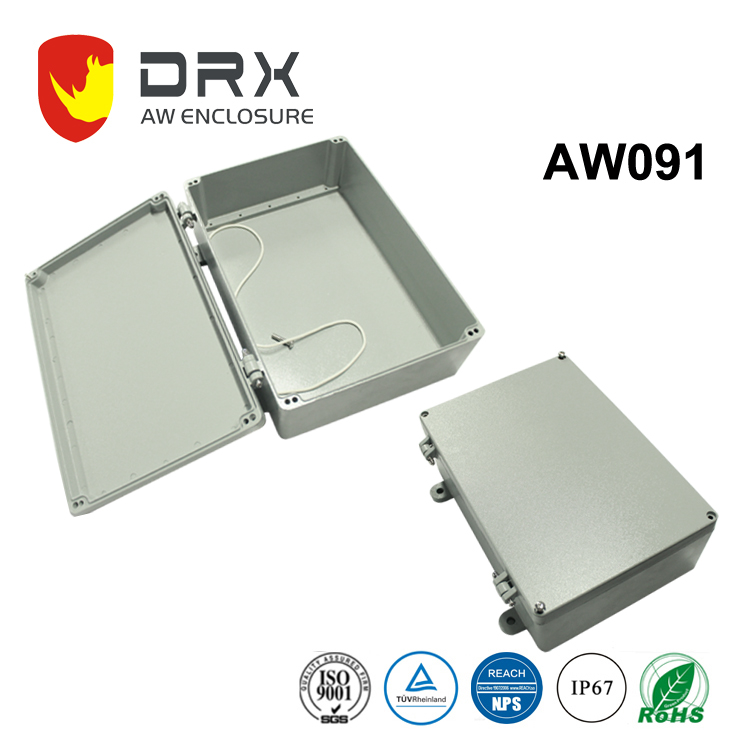 various size aluminum watertight enclosure box for electrical distribution