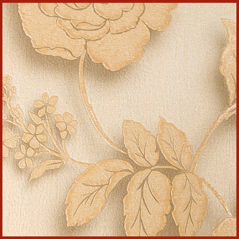 Floral Design Embossed Stereoscopic Wallpaper 3D Wall Paper
