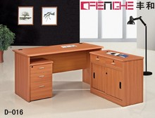 office furniture cherry wood particle board computer desk
