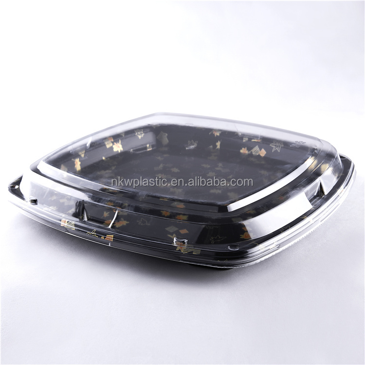 Sushi Container Plastic Party Tray Take Away Box