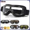 BJ-GT-011 Wholesale Adult Black Leather Steampunk Motorcycle Motocross Glasses
