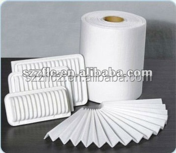 Synthetic filter fabric for air filter vacuum cleaner