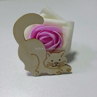 whosale 8*8cm wood carving cats