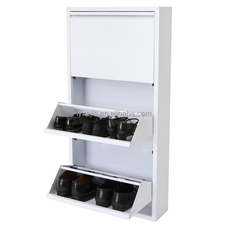 Factory Sale Folding <strong>Utility</strong> <strong>Steel</strong> 3 Layers Shoe Rack Portable Shoe Storage Shoe Display Shelf Box Stand