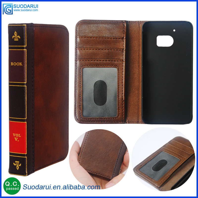 Retro 12 Bible Vintage Book Business Folio Leather <strong>Phone</strong> Case cover For Htc One <strong>M10</strong> Flip Wallet Pouch