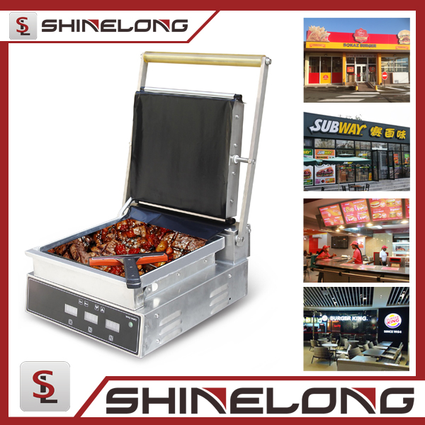 2017 Guangzhou Commercial Fast Food Stainless Steel Grill Burger Equipment