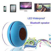 Suction cup speaker shower speakers Bluetooth with CE,LED bluetooth shower speaker