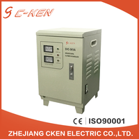 Cken hot sale SVC single phase 5kva full automatic AC voltage stabilizers, 5000va Servo motor controlled circuit stabilizers