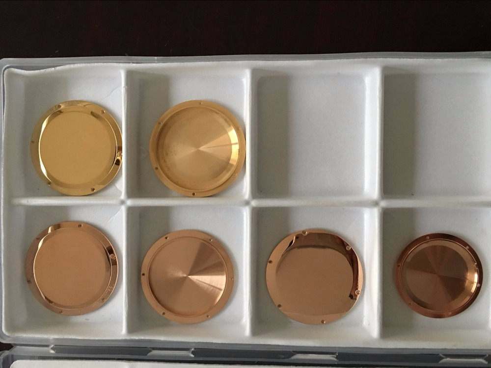 Electroplating 3 mi gold watchcase, electroplating 3 mi rose gold case, thick gold hand watchcase processing