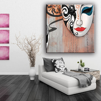 Custom 100% polyester sexy abstract face painting with best price