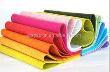 colored needle polyester felt fabric