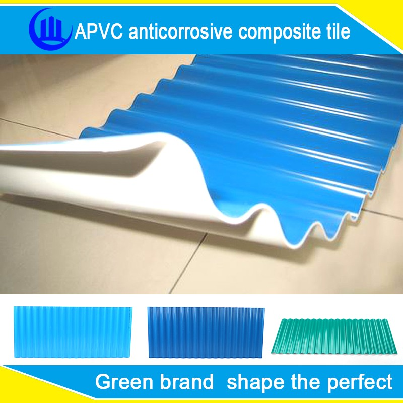 APVC Synthetic resin roof tile/Spanish ASA & PVC anti-corrosive roofing tile and roofing sheet/solar roof tiles