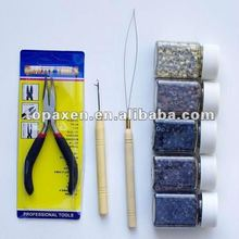 Feather Hair Extension Tool Kit Silicone 100 Beads