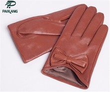custom made women ladies leather gloves fashion gloves winter