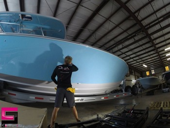 Ceramic Pro Anti-fouling paint protection for yacht