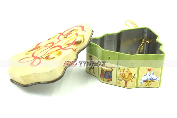 Christmas tree shaped Gift Tin Box for Candy