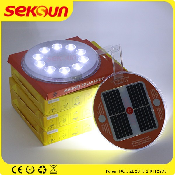 BSCI Seksun magnet small portable LED solar rechargeable camping light hanging solar lantern