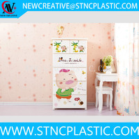 3-tier high quality children clothes plastic drawer