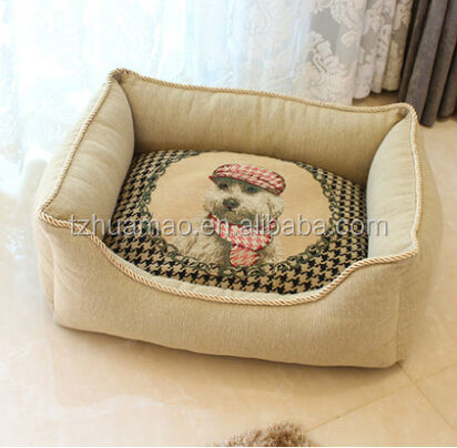 new pet bed and cushion