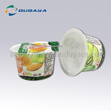 80g IML Plastic food container Pudding packaging container cup with heat seal film