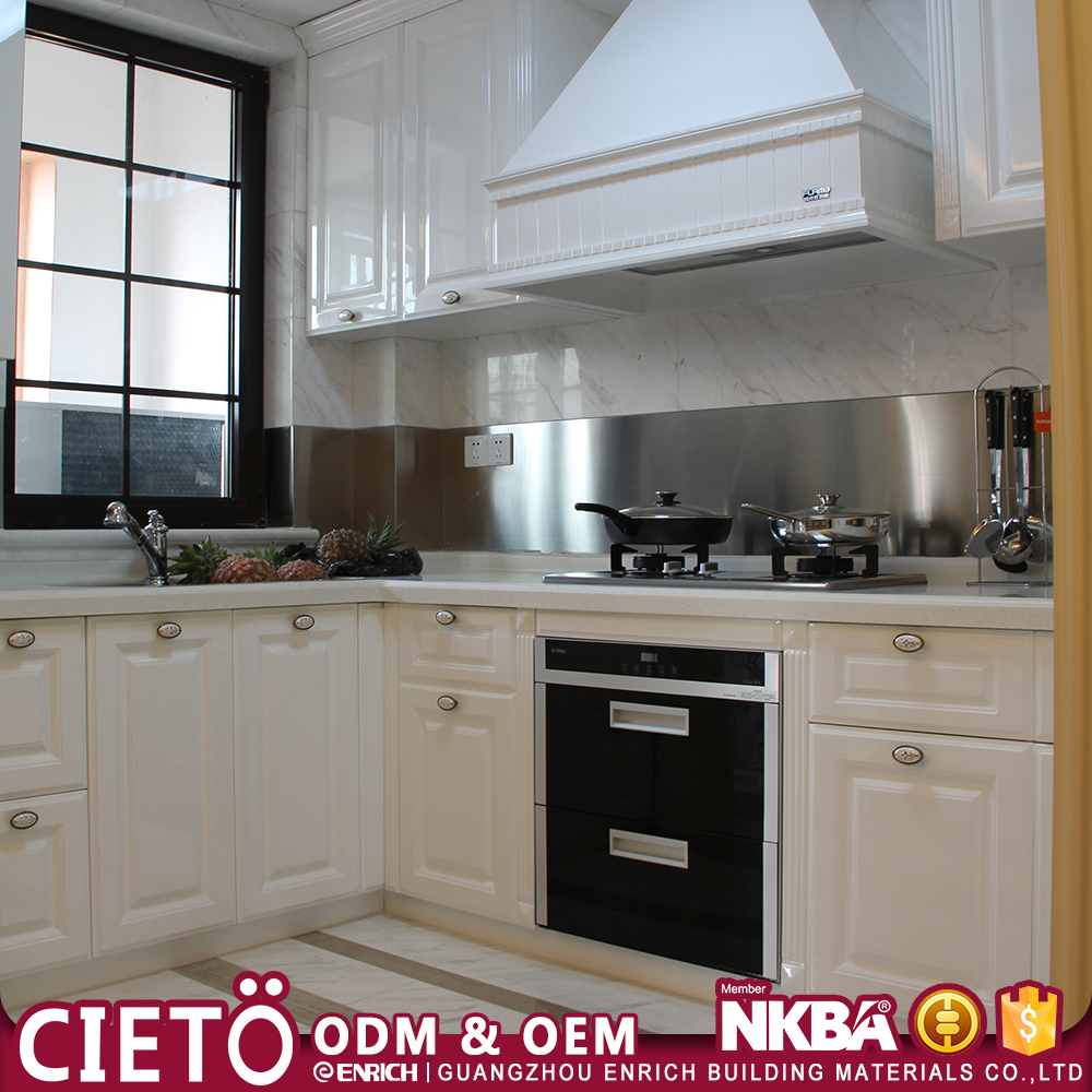 European Style modular kitchen designs high quality Kitchen Cabinets Set with drawer