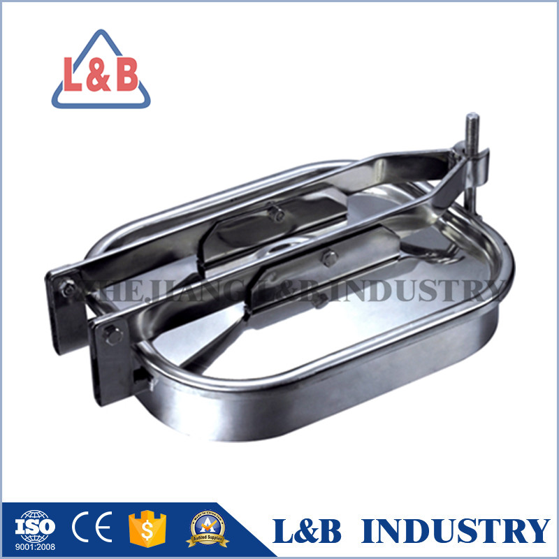 OEM Sanitary Stainless Steel Rectangular Tank Manhole Cover