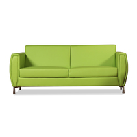Green leather sofa repair/Low back thick leather sofa
