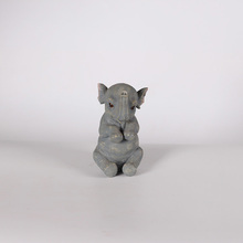 Resin craft baby elephant figurine for furnishing use