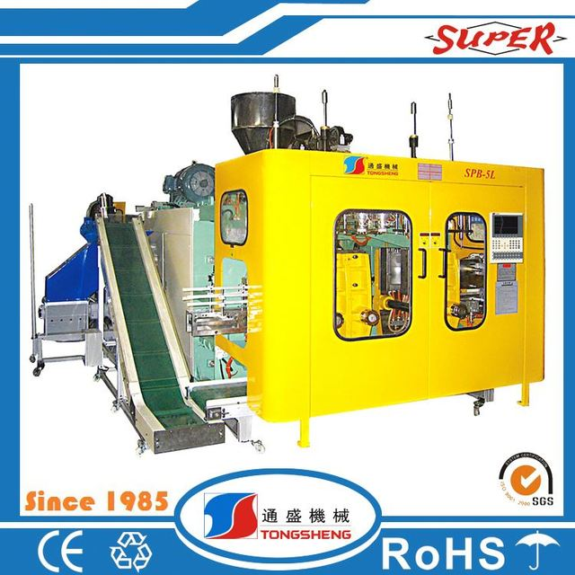 Automatic 500ml hdpe bottles and container plastic blow molding machine