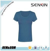 95% Cotton 5% elastane Plain Custom Slim Fit Women Band T Shirts OEM