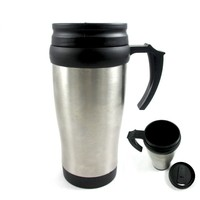 Stainless Steel Insulated Double Wall Travel Coffee Mug Cup 16-Oz Thermos tea cup ,insulated plastic mug